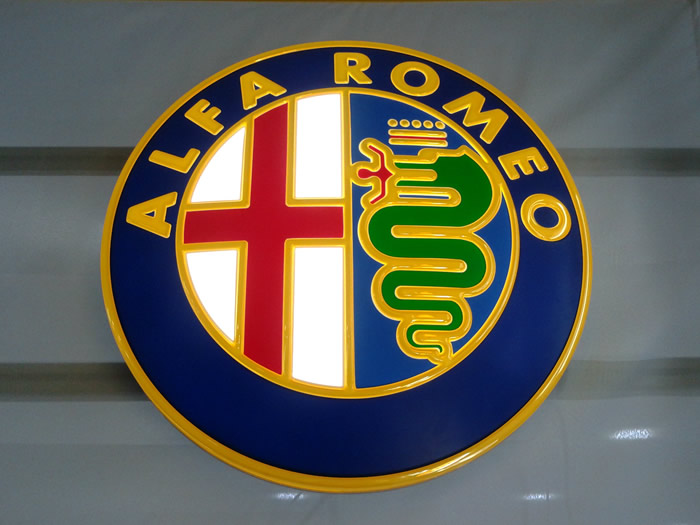 Alfa Romeo Automotive Dealership Signage